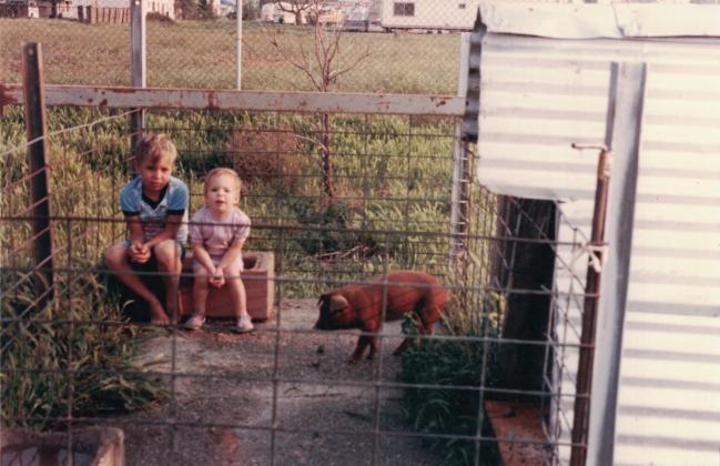Billy & Autumn baby pig high