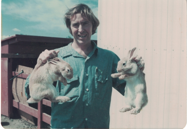 Dad with Rabbits