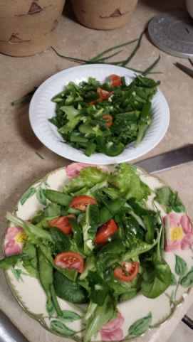 homemade greens salad