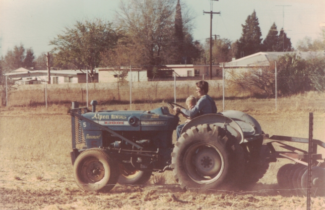mom and billy tractor high