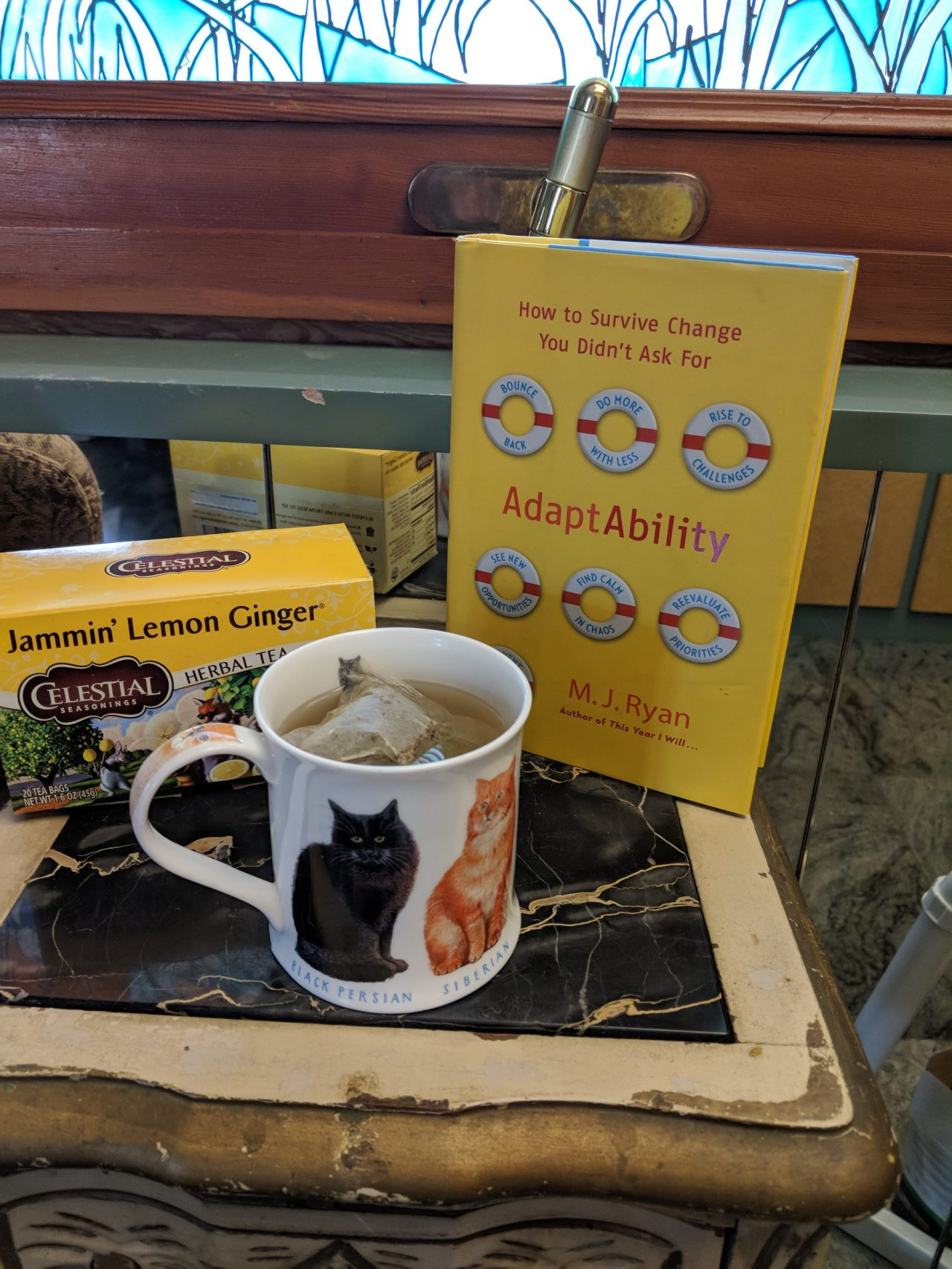 Tea & Books – 'AdaptAbility' and Jammin Lemon Ginger Tea